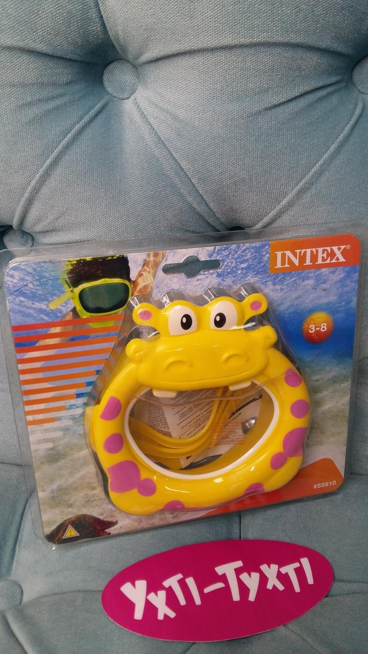 Дитяча маска для плавання Intex, Маска для пірнання від 3 років Бегемот 55910