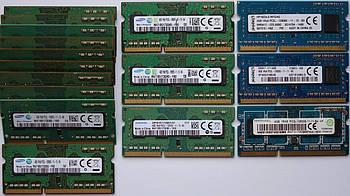 Оперативная память для ноутбука DDR3 SO-DIMM 4GB (1600MHz, PC3L-12800, 1.35v, Samsung, Kingston, Ramaxel) БУ