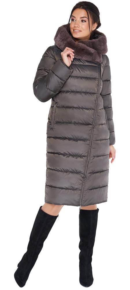 Куртка кольору капучіно жіноча комфортна модель 31049