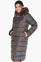 Куртка цвета капучино женская комфортная модель 31049, фото 3