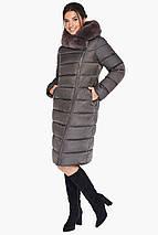Куртка кольору капучіно жіноча комфортна модель 31049, фото 3