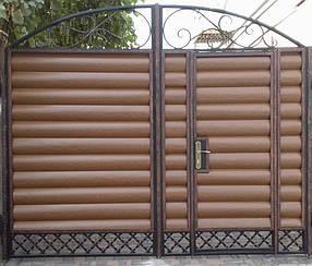 Ворота въездные с калиткой(2х3)