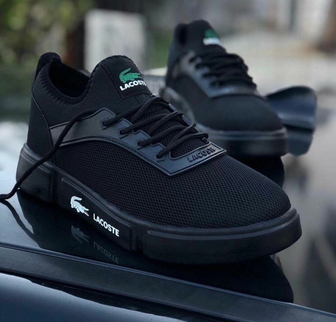 Стильные кроссовки LACOSTE Total Black