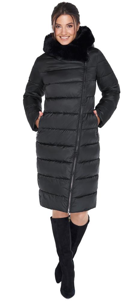 Женская практичная куртка чёрного цвета модель 31049