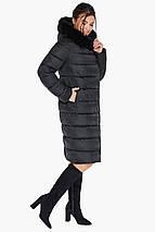 Женская практичная куртка чёрного цвета модель 31049, фото 3