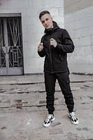 Мужской костюм (куртка + штаны) Softshell черный