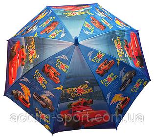 """Зонт детский трость для мальчиков """"Молния Маквин Disney"""" полуавтоматический с тканевым куполом"""