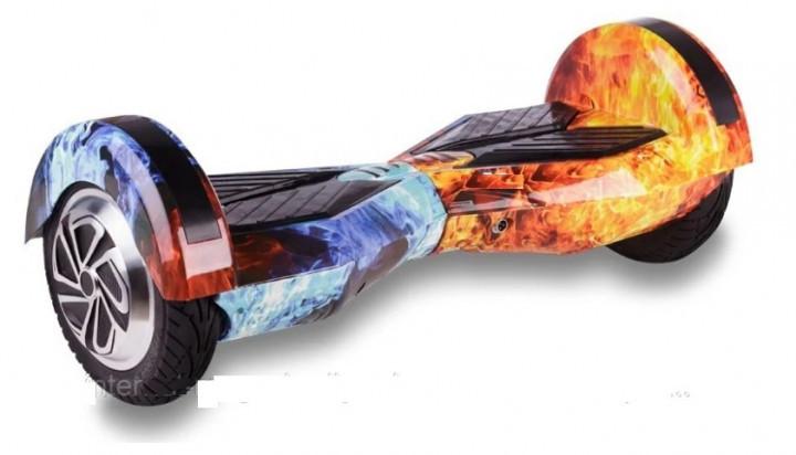 Гироскутер Smart Balance 8 дюймов Огонь и лед (сумка, колонка, подсветка, самобаланс)