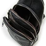 Сумка слинг мужская кожаная через плечо DR. BOND черная (06-119), фото 3
