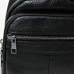 Сумка слинг мужская кожаная через плечо DR. BOND черная (06-119), фото 4