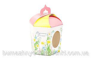 """Коробка для великодніх пасок, """"Квіти"""" (6 граней)"""