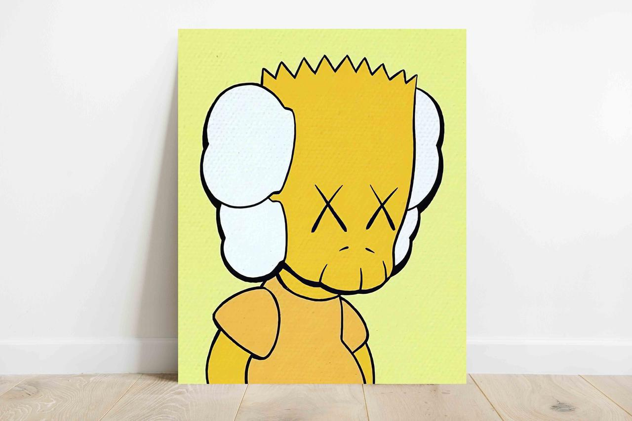 Плакат KAWS Simpsons формат А3