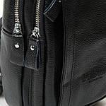 Сумка слинг мужская кожаная через плечо DR. BOND черная (06-121), фото 3