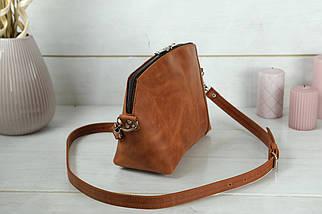 Сумка женская, Кожаная сумочка Майя, Винтажная кожа, цвет Коньяк, фото 2