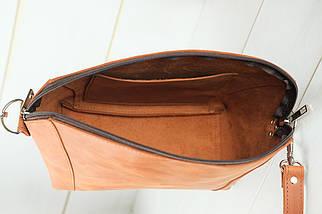 Сумка женская, Кожаная сумочка Майя, Винтажная кожа, цвет Коньяк, фото 3