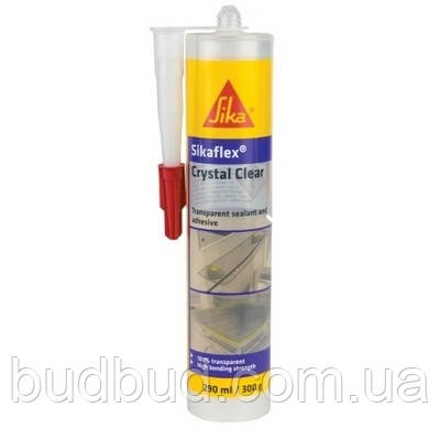 Клей-герметик универсальный MS-полимерный прозрачный SikaFlex Crystal Clear 290 мл
