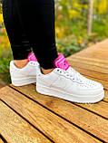 Білі жіночі Кросівки Nike Air Force 1, фото 8