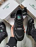 Стильные кроссовки LACOSTE Total Black, фото 4