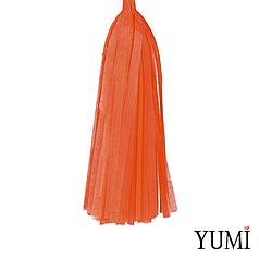 Декор: кисточка тассел оранжевая (1шт)