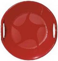 """Зимние снегокаты """"Санки-тарелка"""" 60см красного цвета"""