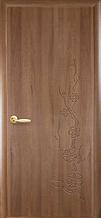 Сакура - Золотая Ольха (60, 70, 80, 90см). Коллекция Колори DeLuxe. Межкомнатные двери МДФ Новый Стиль