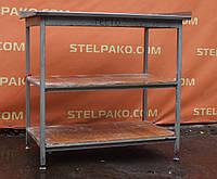 Производственный стол на металл. основе с 2-мя полками, 1000х600х850 мм., (Украина), Б/у