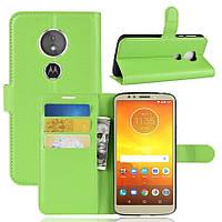 Чехол LUX для Motorola Moto E5 Plus / XT1924-1 книжка зеленый