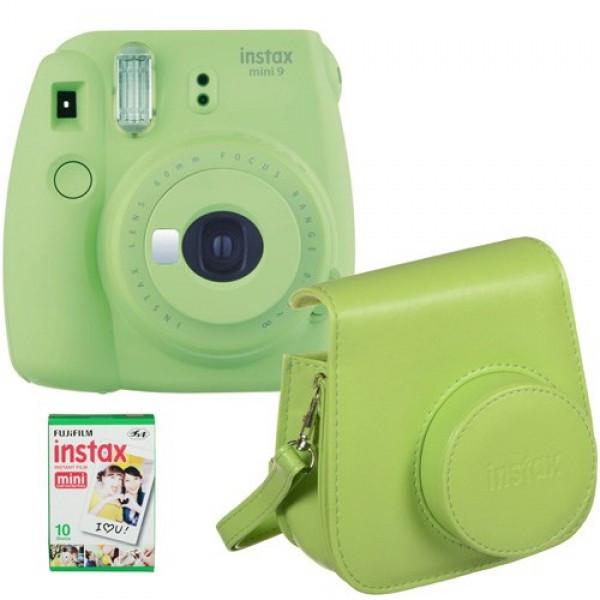 Камера моментальной печати Fuji Instax Mini 9 Lime Green(Чехол+Фотопленка)