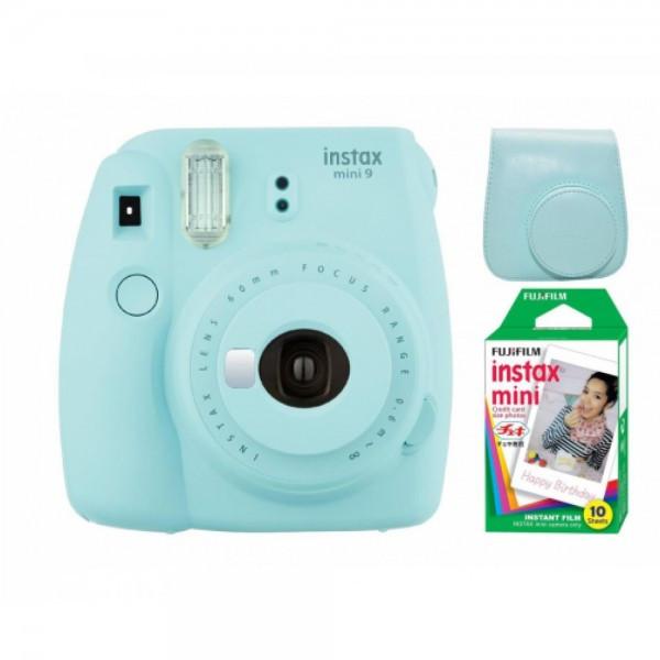 Камера моментальної друку Fujifilm Instax Mini 9 Blue(Чохол+Фотоплівка)