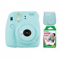 Камера моментальної друку Fujifilm Instax Mini 9 Blue(Чохол+Фотоплівка), фото 1