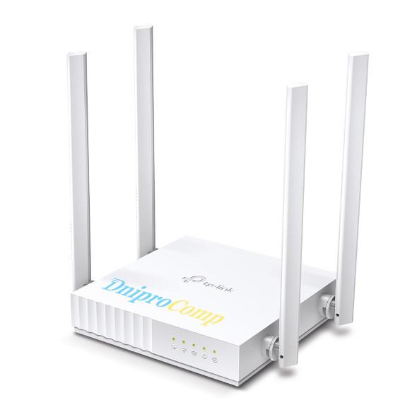 Бездротовий маршрутизатор TP-Link ARCHER C24 (AC750, 1хFE WAN, 4хFE LAN, 4 зовнішні антени)