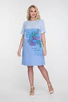 Легке плаття з принтом, великих розмірів, фото 1