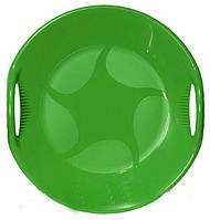 """Зимние снегокаты """"Санки-тарелка"""" 60см зелёного цвета"""