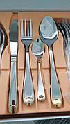 Набір столових приборів 24 шт | набір столових приладів | Столовий набір ложки | вилки | чайні ложки |