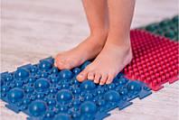 Килимок масажний гумовий для стоп Пазли 8 килимків