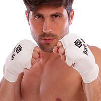 Рукавички для карате накладки карате Daedo 0009D White розмір L, фото 1
