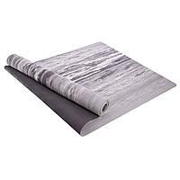 Коврик для фитнеса и йоги Резиновый+TC 4мм (размер 1,83мx0,61мx4мм, цвета в ассортименте)