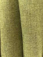 Лляная легкая ткань в оливковом цвете на метраж (М1-15), фото 3