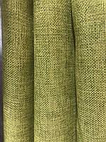 Лляная легкая ткань в оливковом цвете на метраж (М1-15), фото 4