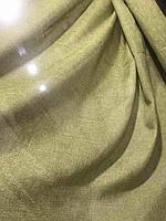 Лляная легкая ткань в оливковом цвете на метраж (М1-15), фото 5