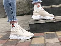 Женские кожаные кроссовки бежевые  Bens 16 беж размеры 36,37,38,39,40,41, фото 1