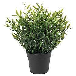 Искусственное растение в горшке IKEA FEJKA rомнатный бамбук 9 см 604.339.39