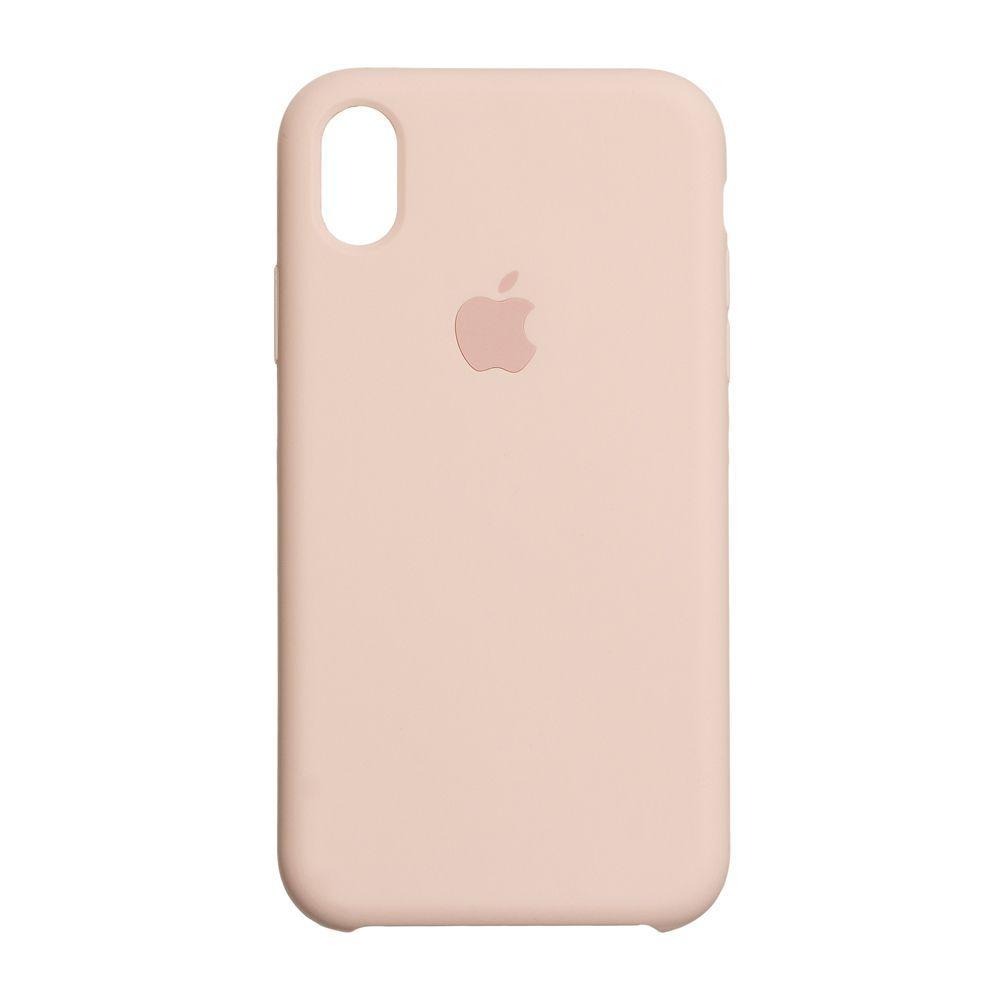 Чехол для  Iphone X Xs  Original copy / Светло розовый