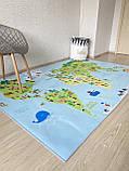 """Бесплатная доставка! Ковер """"Карта мира"""" (1.6*2.3 м), фото 4"""