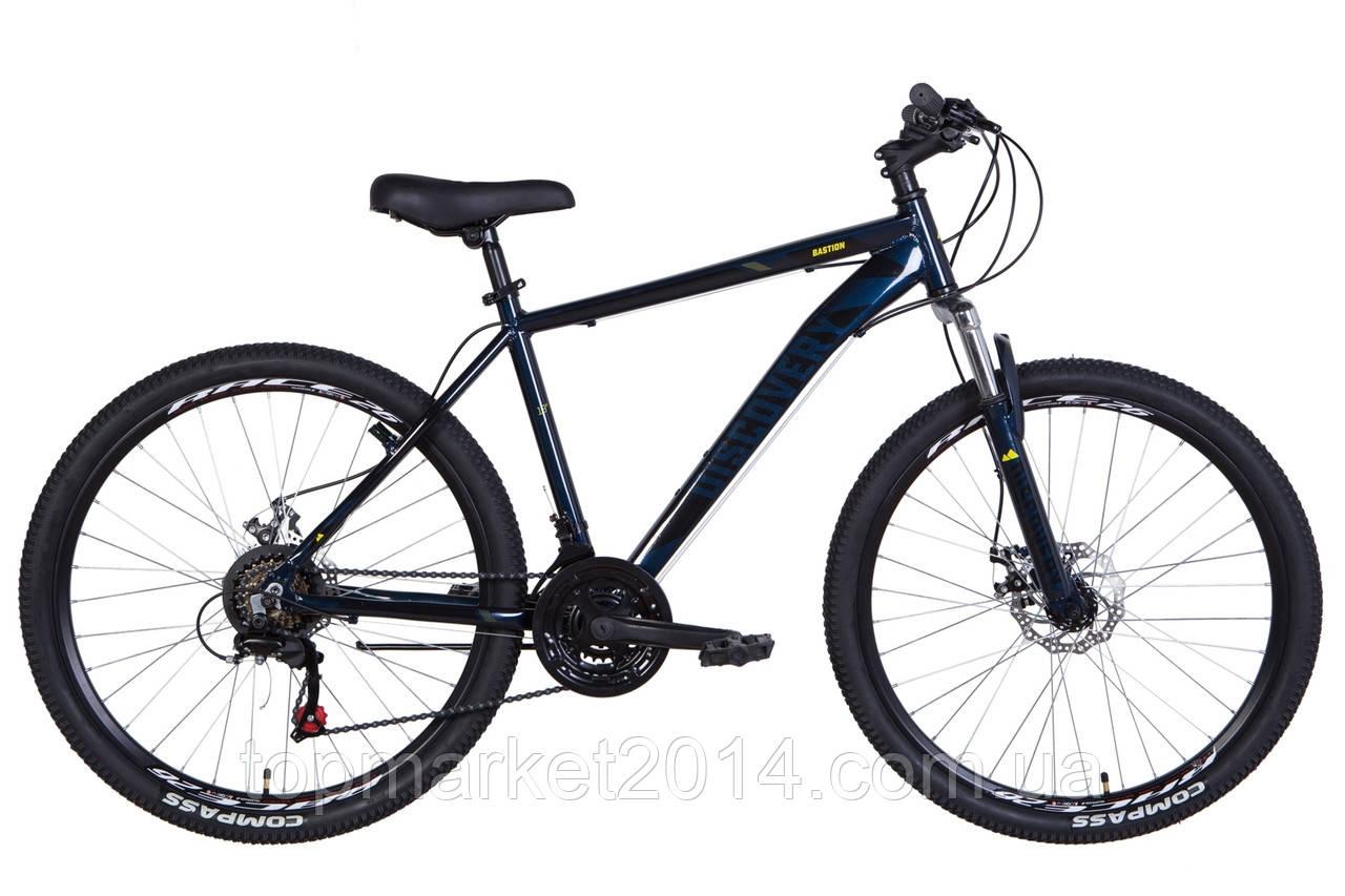 """Гірничо-підлітковий велосипед DISCOVERY BASTION AL AM DD 26""""(синьо-чорний)"""