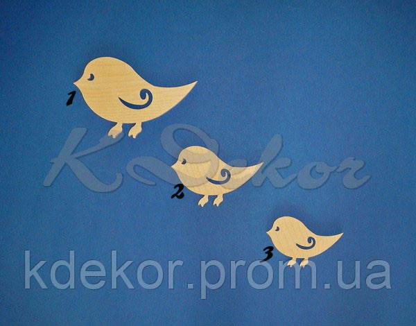 Птичка №3 заготовка для декупажа и декора
