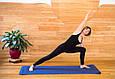 Килимок для йоги TPE 183 х 61 х 0,6 см 2-х шаровий синьо-блакитний, фото 5