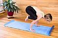 Килимок для йоги TPE 183 х 61 х 0,6 см 2-х шаровий синьо-блакитний, фото 6