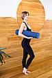 Килимок для йоги TPE 183 х 61 х 0,6 см 2-х шаровий синьо-блакитний, фото 7