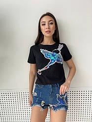Костюм шорты джинсовые с футболкой стильный 3304